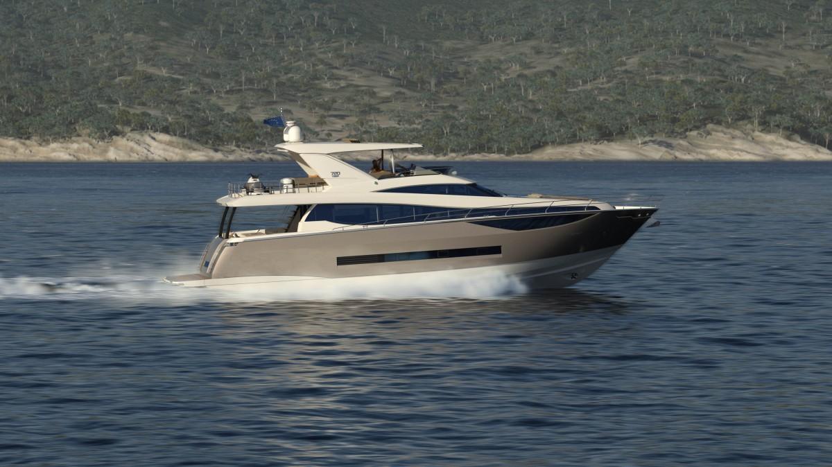 Prestige 720 yacht