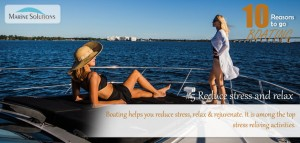boating helps reduce stress