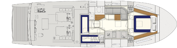 Itama 45 double cabin layout