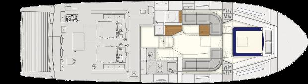 Itama 45 single cabin layout